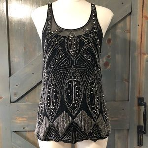 Joie Sequence/Rhinestones Tank Top Size Small